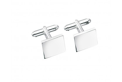 Sterling Silver Solid Square Cufflinks