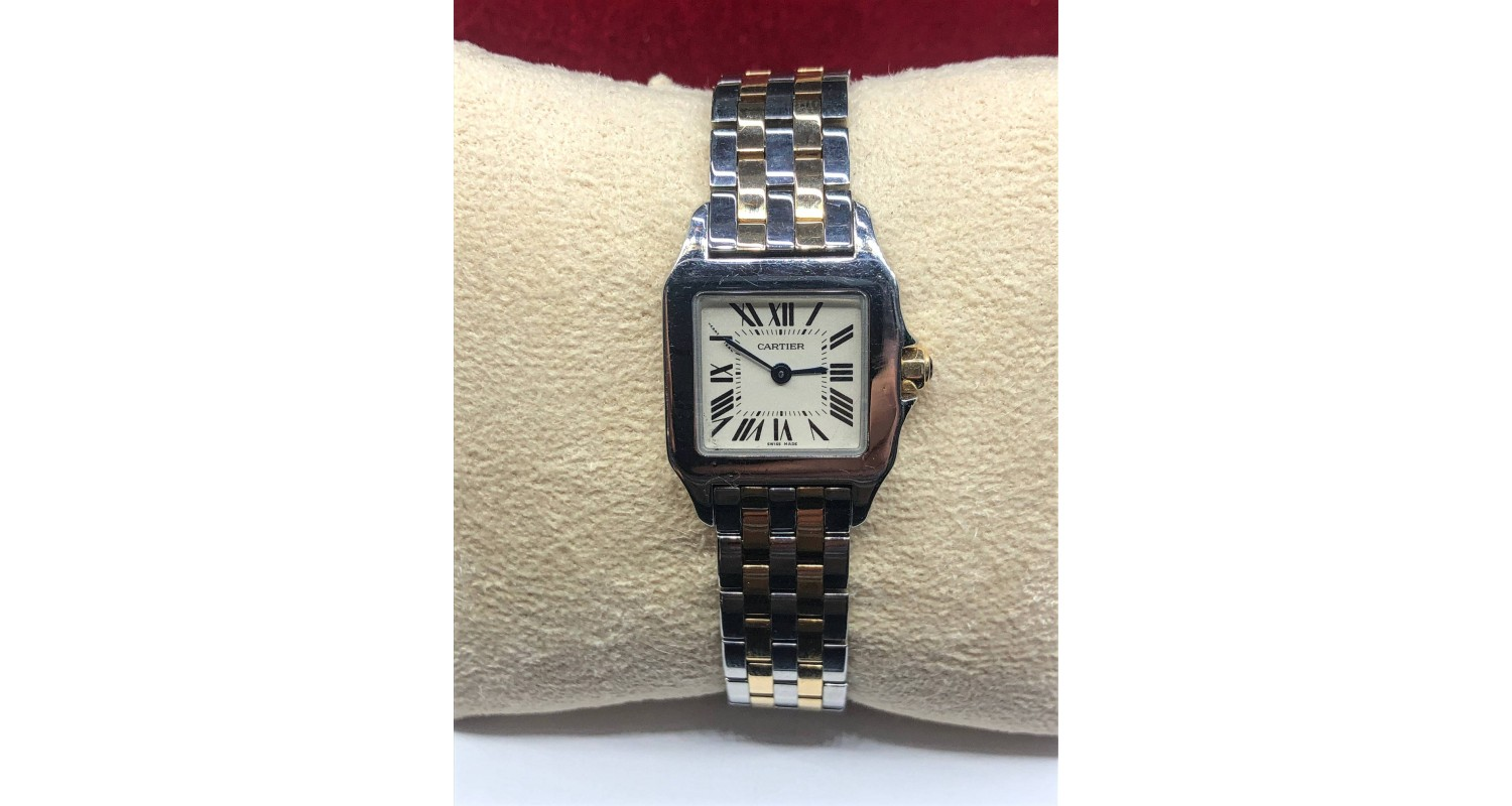 Cartier Santos Demoiselle 18ct Gold '2 Row' Watch