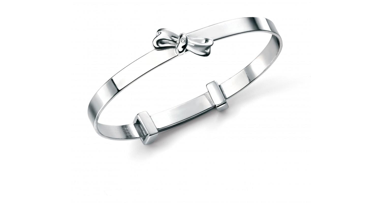 D For Diamond Bow Bangle