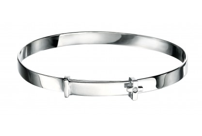 D For Diamond Cross Baby Bangle