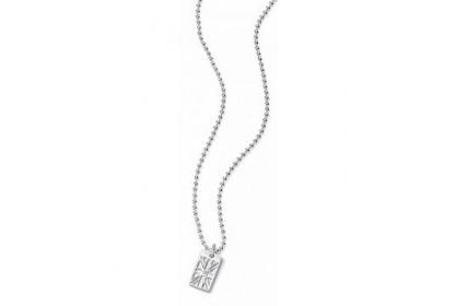 D For Diamond Union Jack Dog Tag Necklace