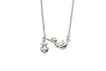 D For Diamond Stork Necklace