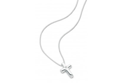 D For Diamond Plain Cross With Diamond Pendant