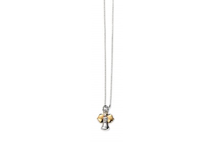 D For Diamond Angel Pendant With Gold Plate Details