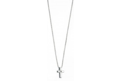 D For Diamond Diamond Cross Pendant
