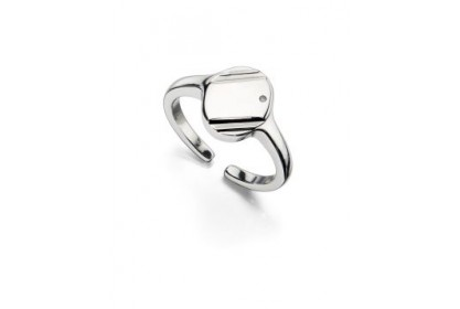 D For Diamond Adjustable Signet Ring