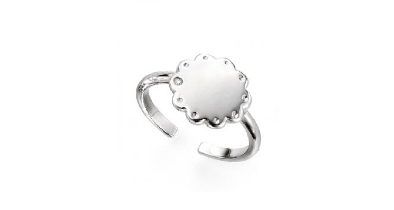D For Diamond Adjustable Scallop Edge Ring