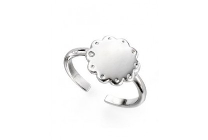 D For Diamond Adjustable Scallop Edge Ring