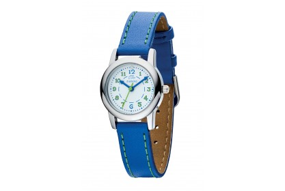 D For Diamond Watch With Blue Strap And Green Detailing
