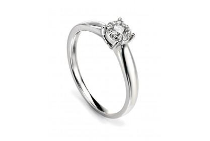 9ct White Gold Diamond 0.17ct Cluster Ring