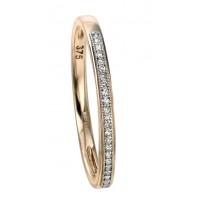 9ct Yellow Gold Diamond Pave Ring
