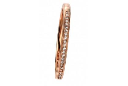 9ct Rose Gold Diamond Pave Ring