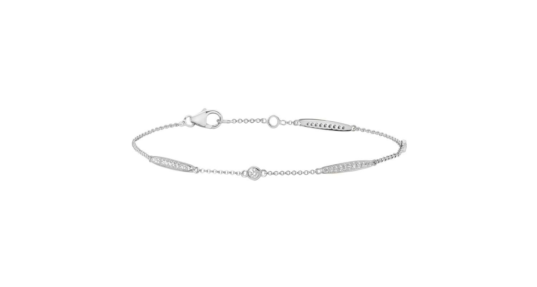18ct White Gold Diamond Set Bracelet