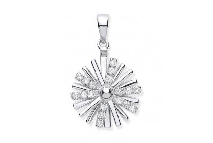 9ct White Gold 0.16ct Diamond Spinning Pendant