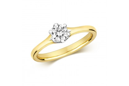 18ct Yellow Gold Diamond 0.50ct Solitaire Ring
