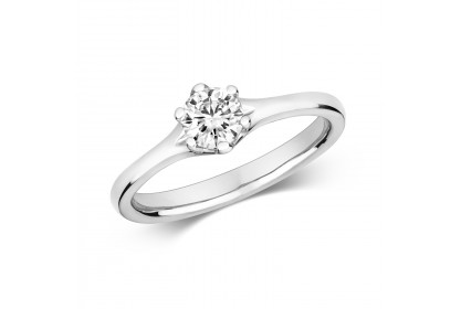 18ct White Gold Diamond 0.50ct Solitaire Ring