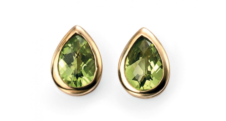 9ct Yellow Gold Peridot Earrings