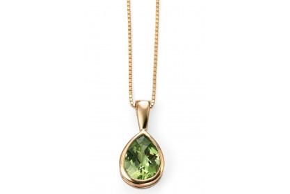 9ct Yellow Gold Peridot Necklace