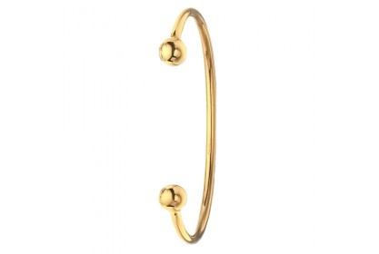 9ct Yellow Gold Solid Ladies' Torque Bangle
