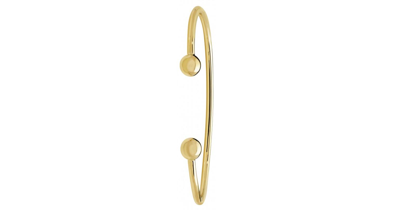 9ct Yellow Gold Solid Ladies' Torque Bangle