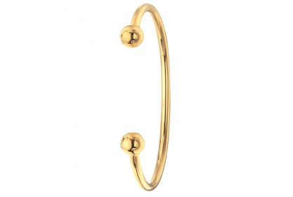9ct Yellow Gold Solid Men's Torque Bangle