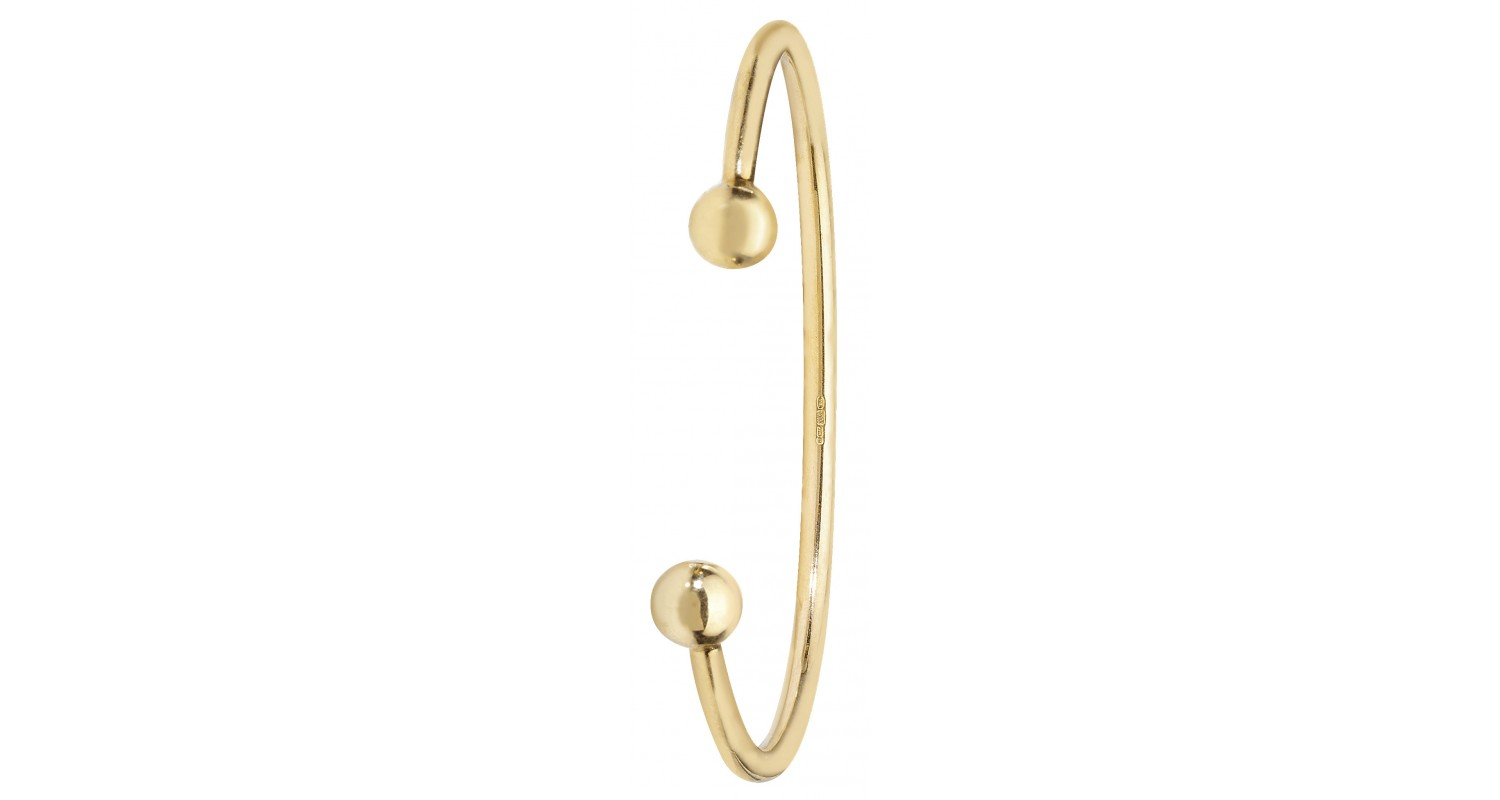 9ct Yellow Gold Solid Babies' Torque Bangle