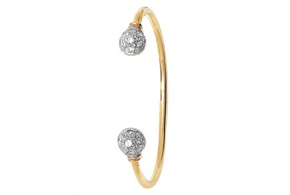 9ct Yellow Gold Babies' CZ Torque Bangle