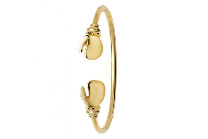 9ct Yellow Gold Babies' Boxing Glove Torque Bangle