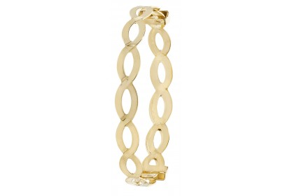 9ct Yellow Gold Babies' Expandable Oval Bangle