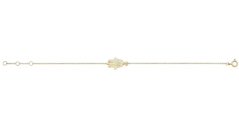 9ct Yellow Gold Ladies Hamsa Bracelet