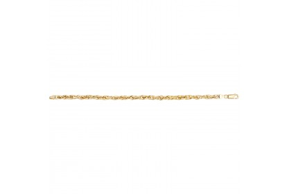 9ct Yellow Gold Ladies Prince Of Wales Link Bracelet