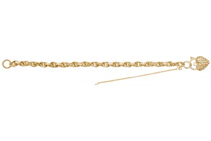 9ct Yellow Gold Ladies Prince Of Wales Link Luxury Bracelet