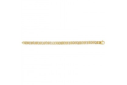 9ct Yellow Gold Ladies Luxury Byzantine Bracelet