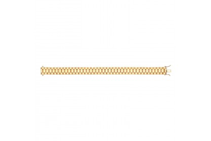 9ct Yellow Gold Mens Watch Style Bracelet
