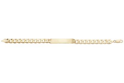 9ct Yellow Gold Mens ID Bracelet