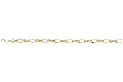 9ct Yellow Gold Ladies Oval Link Bracelet
