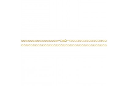 9ct Yellow Gold 3mm Flat Curb Chain