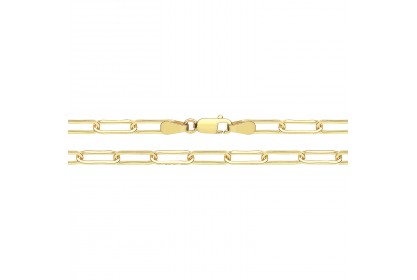 9ct Yellow Gold Heavy Paperclip Link Anklet