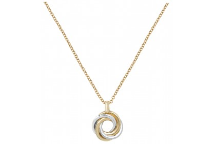 9ct Yellow And White Gold Interlocking Necklace