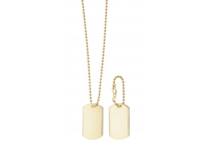 9ct Yellow Gold Double Dog Tag Necklace