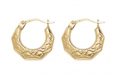 9ct Yellow Gold Babies Creole Earrings