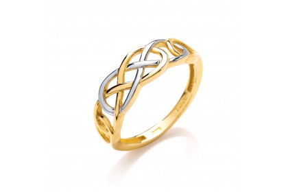 9ct Yellow/White Gold Celtic Ring