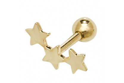 9ct Yellow Gold Gold Shooting Star Ear Cartilage Stud