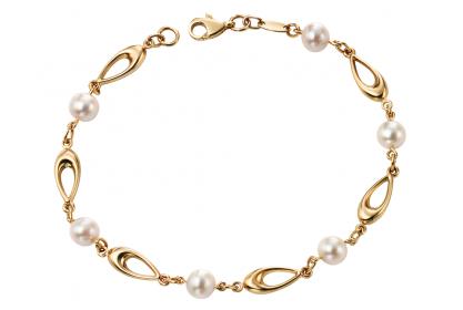 9ct Yellow Gold Freshwater Pearl Bracelet