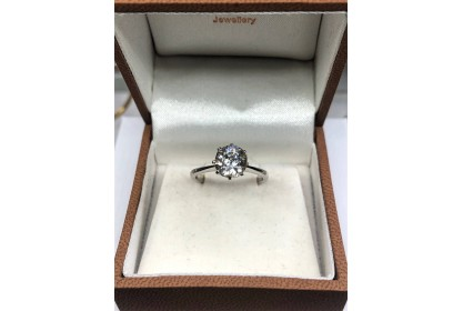 18ct White Gold 1.48ct Old Cut Diamond Solitaire Ring