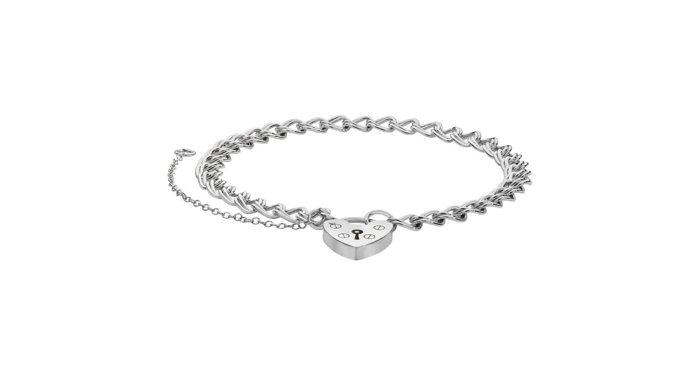 Sterling Silver Ladies Classic Charm Bracelet