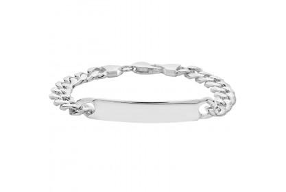 Sterling Silver Mens ID Bracelet