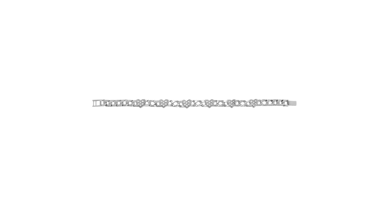 Sterling Silver CZ Set Heart Bracelet