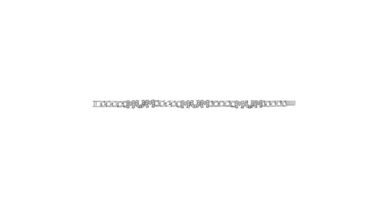 Sterling Silver CZ Set Mum Bracelet