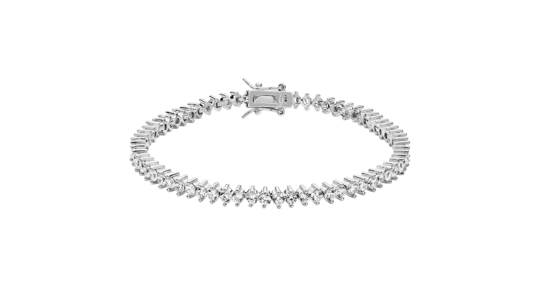 Sterling Silver CZ Set Line Bracelet